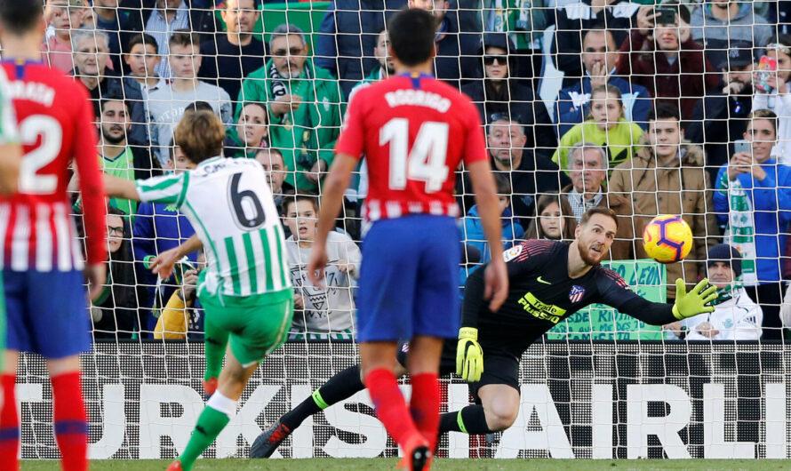 En los últimos 6 partidos el Betis ha puntuado un 50% frente al Atlético