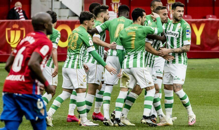 Sporting de Gijón 0-2 Real Betis Balompié (1×1) Plácida tarde copera en el Molinón
